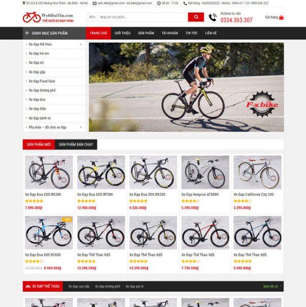 Theme Wordpress bán Xe Đạp M205 hình 2