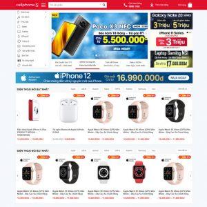 Theme Wordpress bán hàng điện thoại, laptop, phụ kiện giống Cellphones M212 hình 2