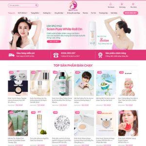 Theme Wordpress bán hàng Mỹ Phẩm Mẫu 15 hình 2