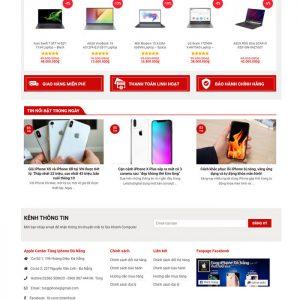 Theme Wordpress bán hàng Máy tính Laptop, phụ kiện Mẫu số 7 hình 4