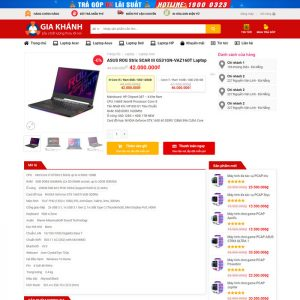 Theme Wordpress bán hàng Máy tính Laptop, phụ kiện Mẫu số 7 hình 5