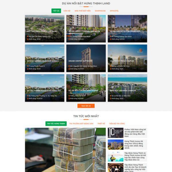 Theme Wordpress Bất Động Sản Sàn Giao Dịch Mẫu 216 hình 3