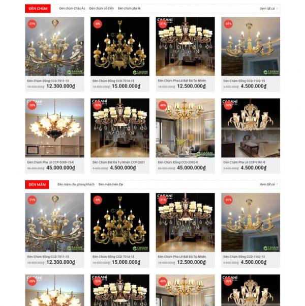 Theme Wordpress bán Đèn Trang Trí M222 hình 3