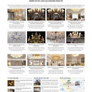 Theme Wordpress bán Đèn Trang Trí M222 hình 4