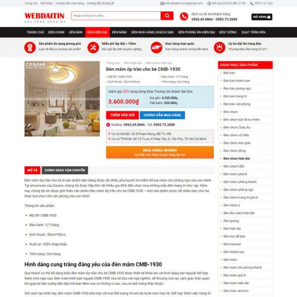 Theme Wordpress bán Đèn Trang Trí M222 hình 5