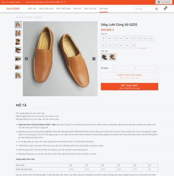 Theme Wordpress bán Giày Nam M224 hình 5