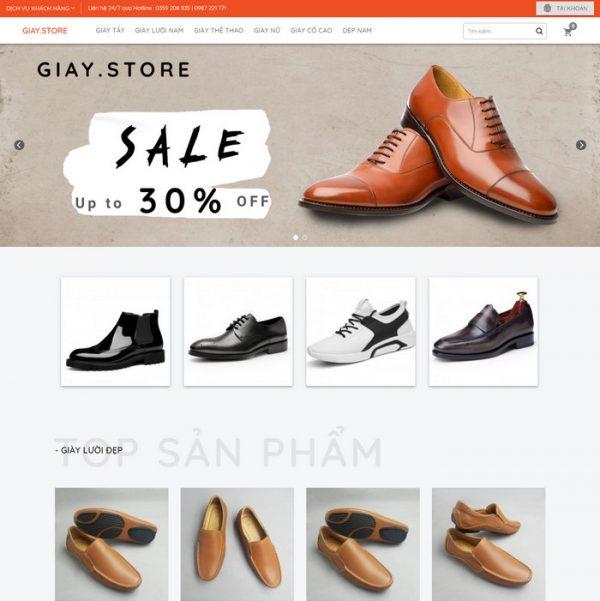 Theme Wordpress bán Giày Nam M224 hình 2