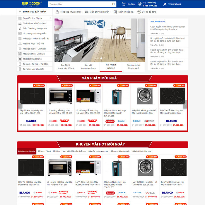 Theme WordPress bán hàng Đồ Gia Dụng, Bếp M223 hình 2