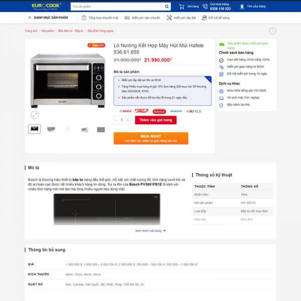 Theme Wordpress bán hàng Đồ Gia Dụng, Bếp M223 hình 5