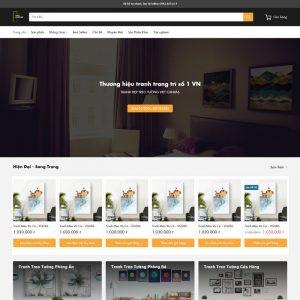 Theme Wordpress bán Tranh Trang Trí M225 hình 2