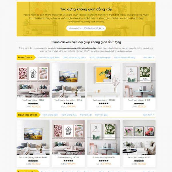 Theme Wordpress bán Tranh Treo Tường M221 hình 3