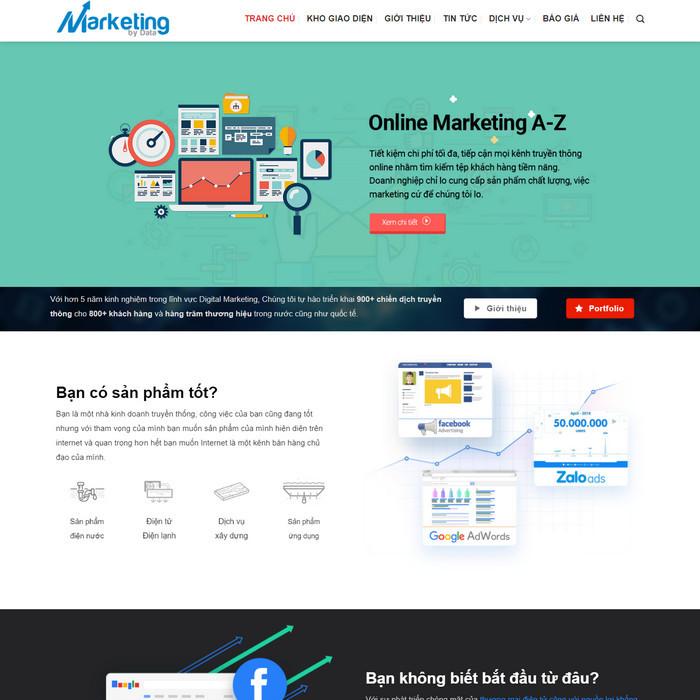 Theme WordPress Công ty dịch vụ Thiết kế web, Marketing M218 hình 2