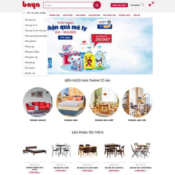 Theme Wordpress Nội Thất và Trang Trí M220 hình 2