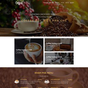 Theme Wordpress bán Cà Phê M219 hình 2