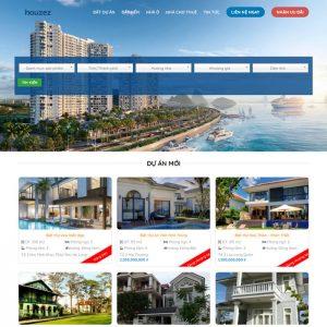 Theme Wordpress bất động sản nhà đất, biệt thự M229 hình 2