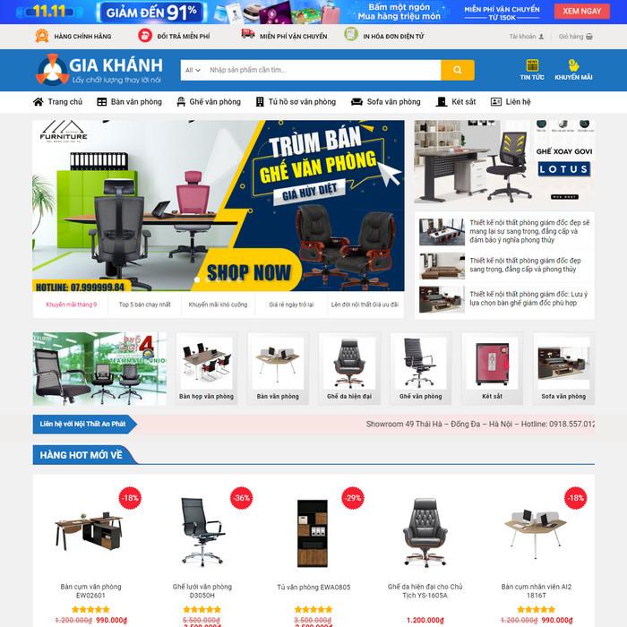 Theme WordPress bán Bàn Ghế Nội Thất Văn Phòng M231 hình 2