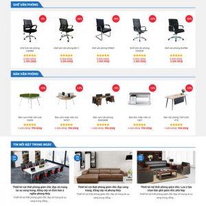 Theme Wordpress bán Bàn Ghế Nội Thất Văn Phòng M231 hình 3