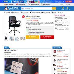 Theme Wordpress bán Bàn Ghế Nội Thất Văn Phòng M231 hình 4