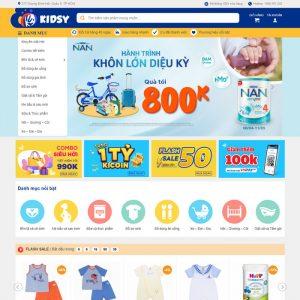 Theme Wordpress bán hàng Mẹ và Bé Mẫu số 8 hình 2